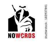 silence sign branding identity... | Shutterstock .eps vector #183937841