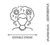 intellectual disability linear... | Shutterstock .eps vector #1839386914