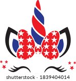 patriotic unicorn  4th of july... | Shutterstock .eps vector #1839404014