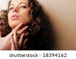 beautiful woman. fashion art... | Shutterstock . vector #18394162