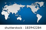 vector flat world map with... | Shutterstock .eps vector #183942284