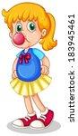 illustration of a little girl... | Shutterstock .eps vector #183945461