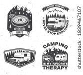 set of rv camping badges ... | Shutterstock .eps vector #1839467107