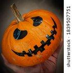 halloween horror smiling... | Shutterstock . vector #1839507751