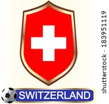 switzerland. blazon with flag   ... | Shutterstock .eps vector #183951119
