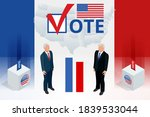 election day. usa debate of... | Shutterstock .eps vector #1839533044