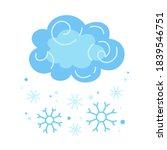 winter cloud snow  snowflake... | Shutterstock .eps vector #1839546751