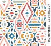 ethnic tribal argyle seamless... | Shutterstock .eps vector #1839551107