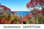 Autumn Foliage And Lighthouse...