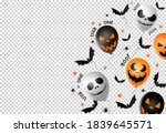 halloween party  banner  scary... | Shutterstock .eps vector #1839645571