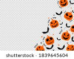halloween party banner   scary...   Shutterstock .eps vector #1839645604