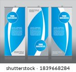 roll up banner stand template... | Shutterstock .eps vector #1839668284