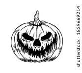 illustration of scary halloween ... | Shutterstock . vector #1839669214