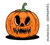illustration of scary halloween ... | Shutterstock . vector #1839669451