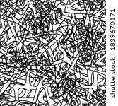 grunge background black and... | Shutterstock .eps vector #1839670171