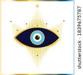 i see you  evil eye  frame ... | Shutterstock .eps vector #1839675787