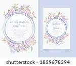 wedding invitation template... | Shutterstock .eps vector #1839678394