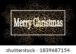 merry christmas in a white... | Shutterstock .eps vector #1839687154