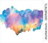 splash of brush shades... | Shutterstock .eps vector #1839687871