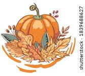 thanksgiving celebration set... | Shutterstock .eps vector #1839688627