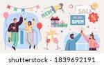 grand opening ceremony... | Shutterstock .eps vector #1839692191