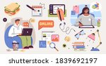 set of illustrations about... | Shutterstock .eps vector #1839692197