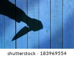 male hand shadow with kitchen... | Shutterstock . vector #183969554