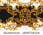 seamless gold baroque style... | Shutterstock .eps vector #1839726124