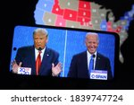 Small photo of 10/24/2020,USA:The debate gave Trump a bump in a crucial swing state, betting data suggests.