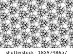 ornament with elements of black ... | Shutterstock . vector #1839748657