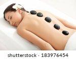 spa treatment. beautiful woman... | Shutterstock . vector #183976454