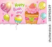 happy birthday card background... | Shutterstock .eps vector #183983639