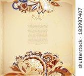 batik exotic background | Shutterstock .eps vector #183987407