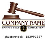 lawyer or law firm design is an ... | Shutterstock .eps vector #183991937