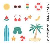 beach and summer travel element ...   Shutterstock .eps vector #1839972307