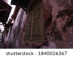 Old Wooden Windows In The Wall...