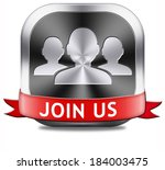 join us now button and register ... | Shutterstock . vector #184003475