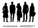 set of silhouettes of men and... | Shutterstock .eps vector #1840038277