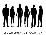 vector silhouettes of  men and... | Shutterstock .eps vector #1840039477