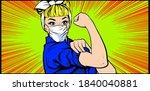 we can do it woman doctor nurse ... | Shutterstock .eps vector #1840040881
