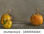 Orange Pumpkins On A Background ...