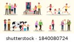 set of happy family people...   Shutterstock .eps vector #1840080724