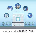 dental clinic building or... | Shutterstock .eps vector #1840101331