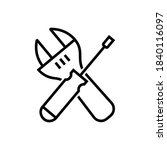 screwdriver icon isolated on...