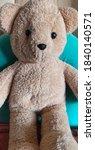 Brown Fabric Teddy Bear  Donke...