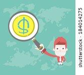 find money  vector cartoon... | Shutterstock .eps vector #184014275