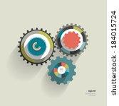 cog wheel circle flat diagram...