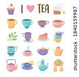 tea time set icons teacup...   Shutterstock .eps vector #1840159987