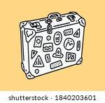 Suitcase Outline Sticker....