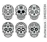 Mexican Sugar Skull  Dia De Lo...